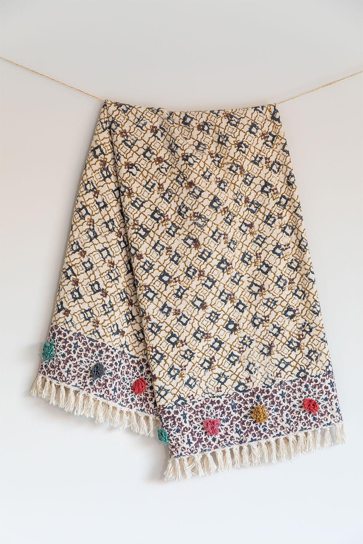 Plaid Blanket in Tenesi Cotton, gallery image 1