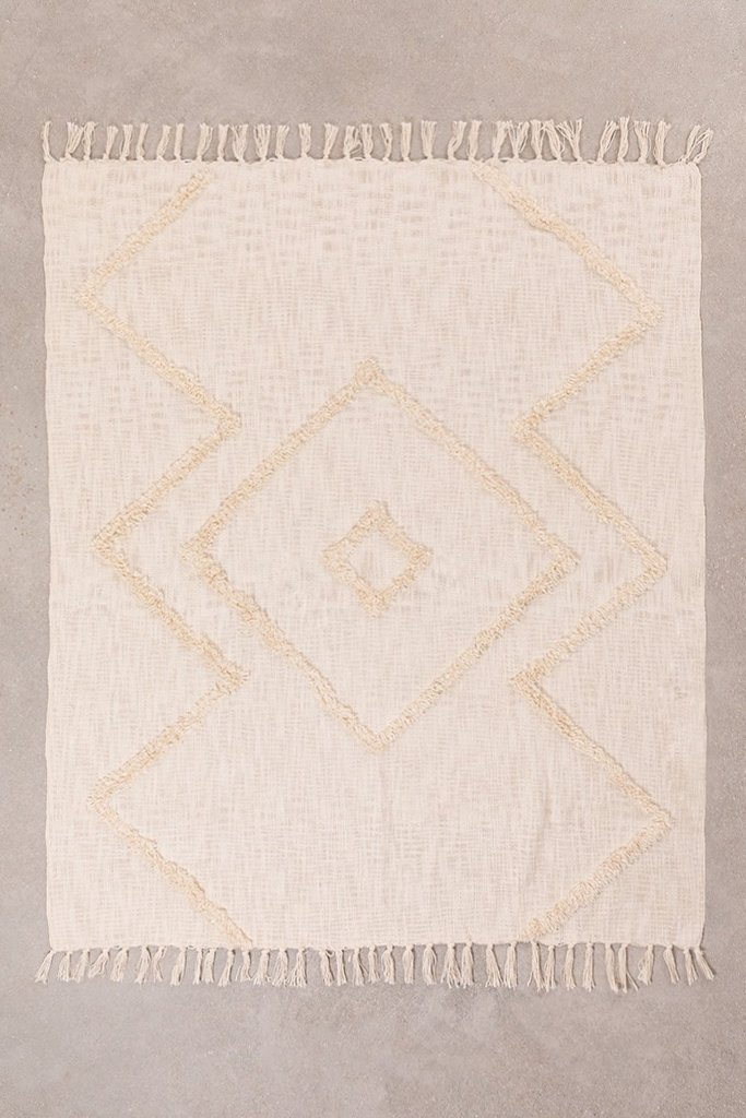 Plaid Blanket in Neutral Cotton, gallery image 1