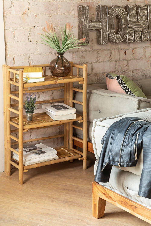 Bamboo 3-Shelf  Bookcase Iciar , gallery image 1