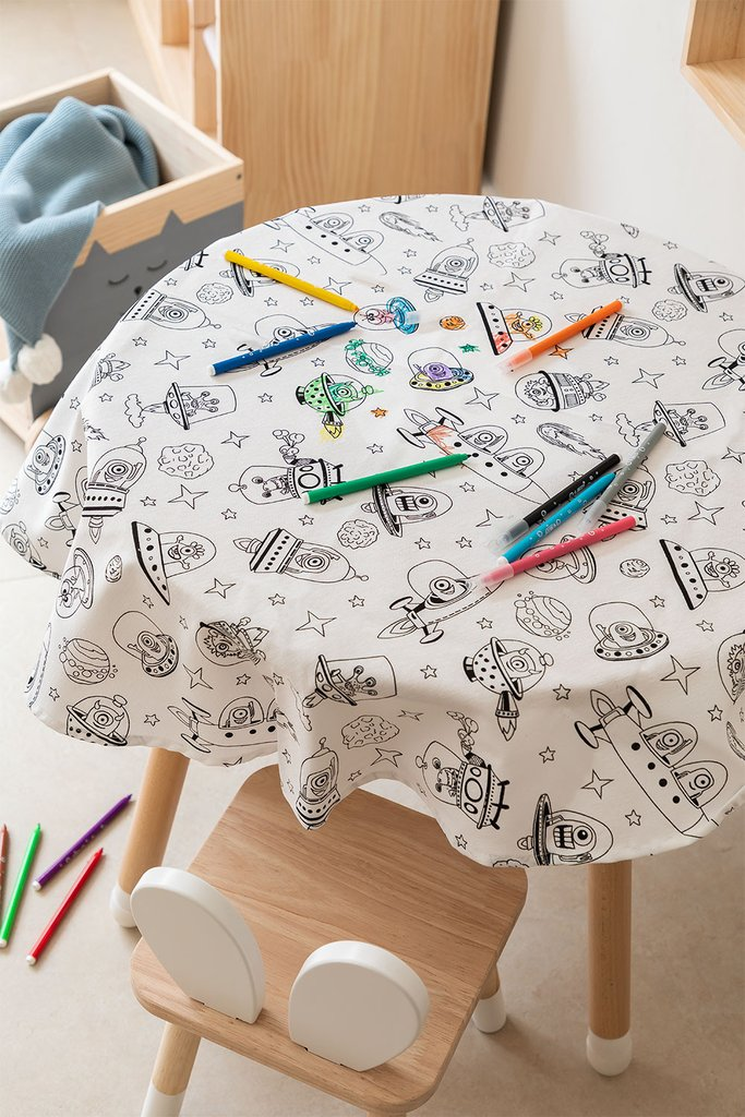 Washable Tablecloth with 12 Fanni Kids Coloring Markers, gallery image 1