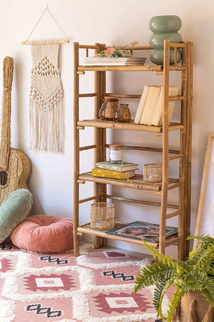 Bamboo  4 Shelves Unit Iciar, gallery image 1