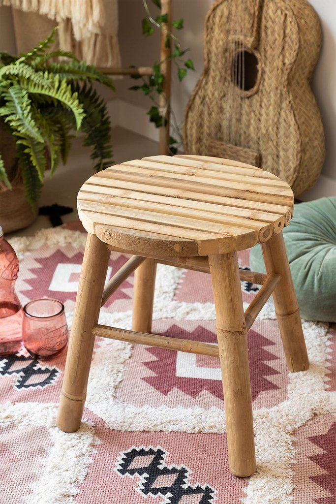 Low Stool in Bamboo Dilio, gallery image 1