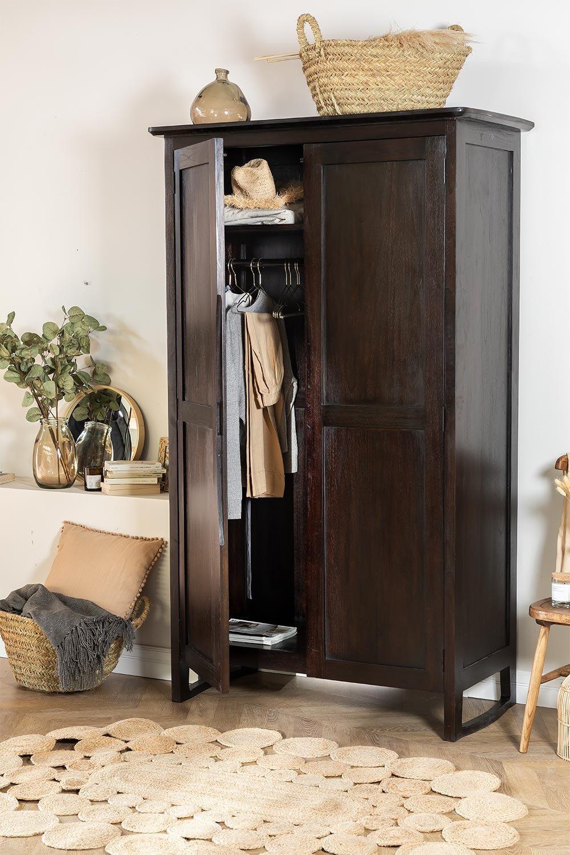 Somy Teak Wood Wardrobe, gallery image 1