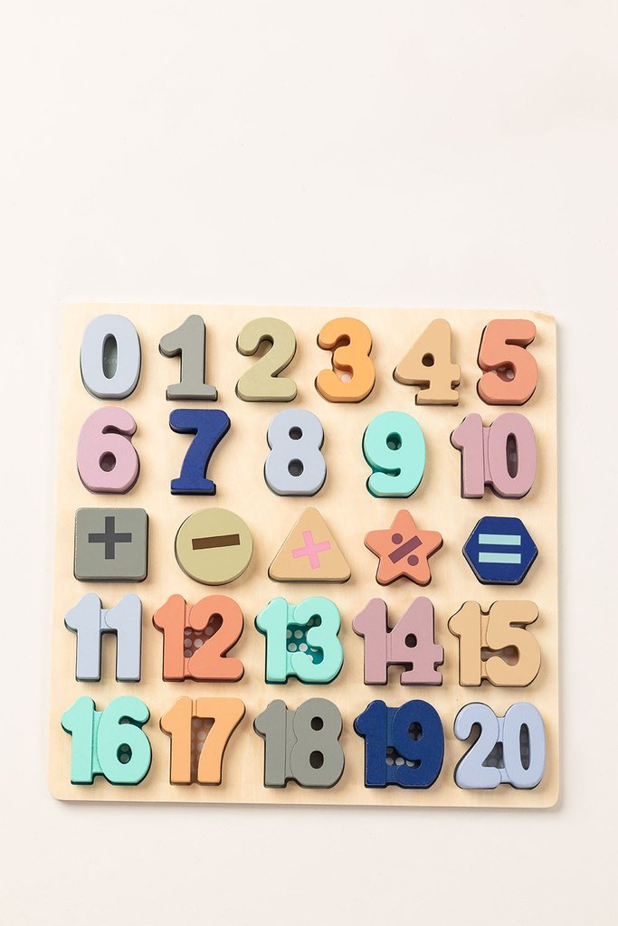 Puzzle with Wooden Numbers Nemi Kids, gallery image 1
