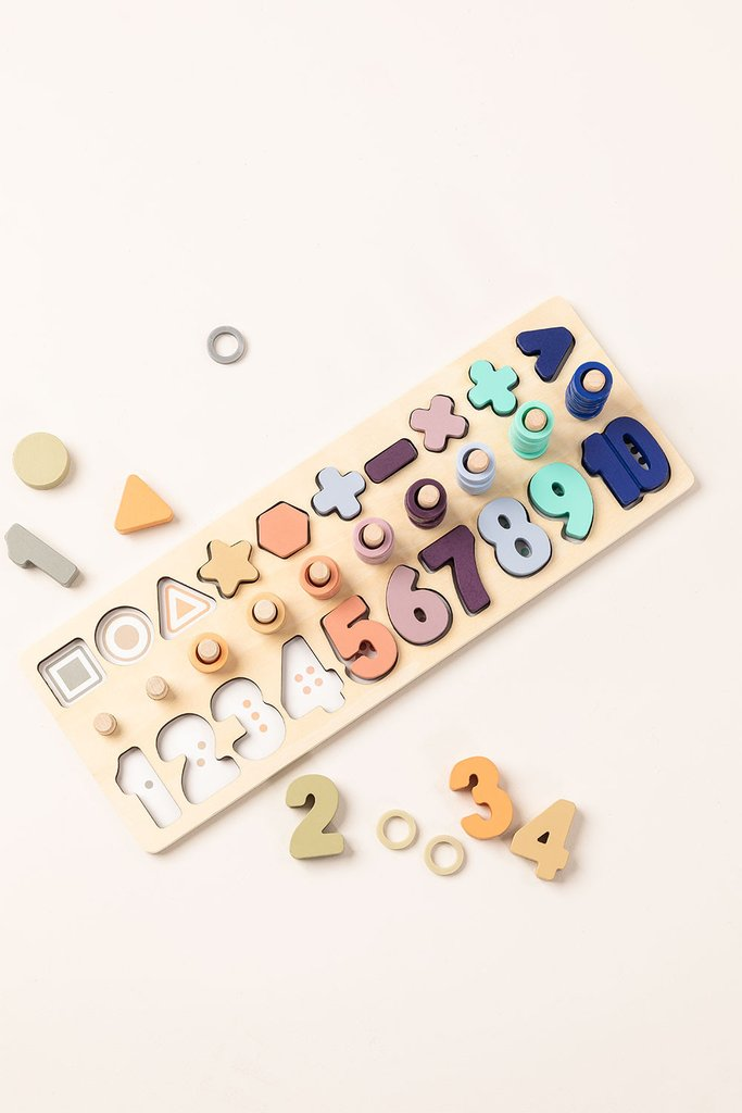 Puzzle with Wooden Numbers Sesil Kids, gallery image 1