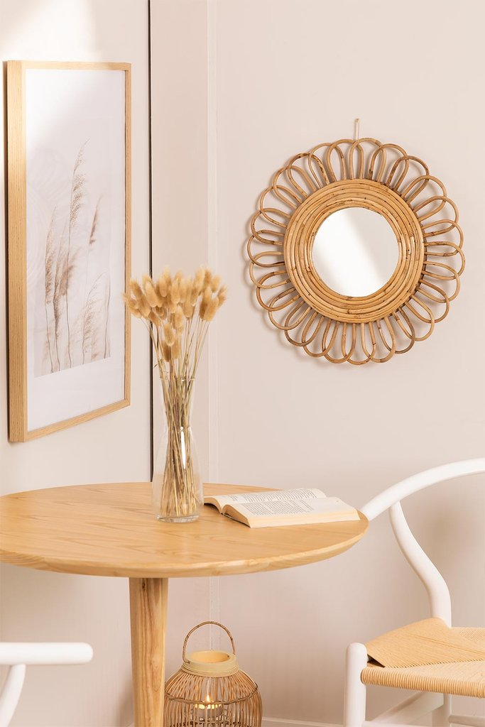 Round Wall Mirror in Bamboo Thail(Ø49 cm) , gallery image 1