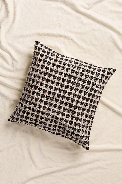 Urub Square Cotton Cushion (50x50cm) , gallery image 1