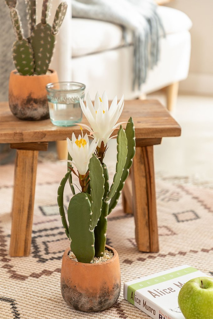 Artificial Cactus with Cereus Flowers, gallery image 1