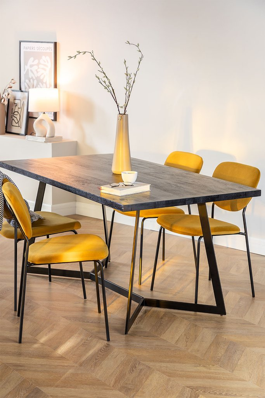 Rectangular Dining Table in Mango Wood (170x90 cm) Gledi, gallery image 1