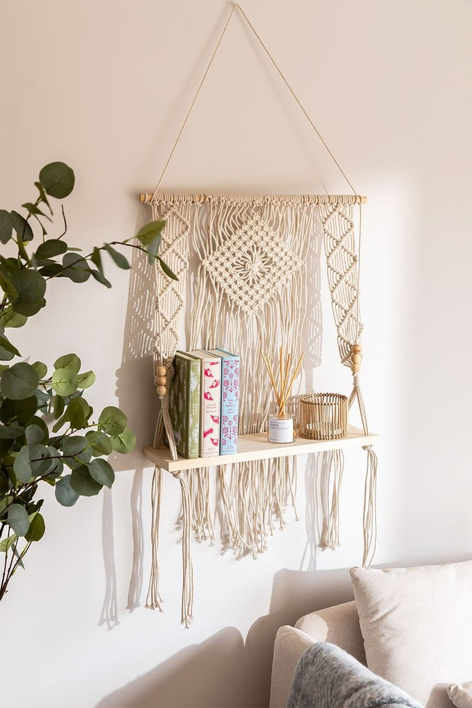 Tapestry with Wall Shelf in Luad Cotton, gallery image 1