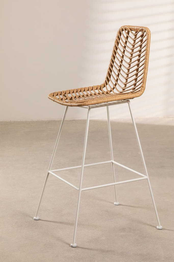 Natural Synthetic  High Stool Rattan Gouda , gallery image 1