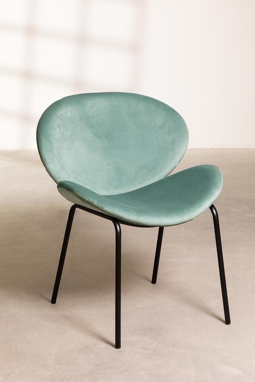 Dining Chair in Velvet Fior, gallery image 1