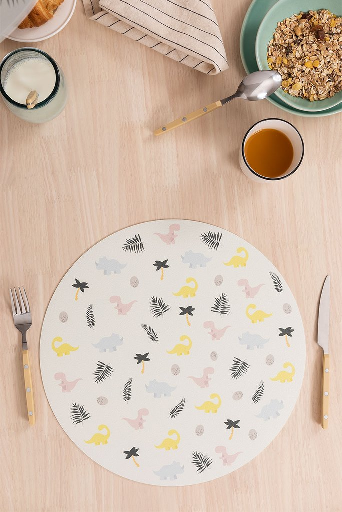 Moes Kids Round Vinyl Placemat, gallery image 1