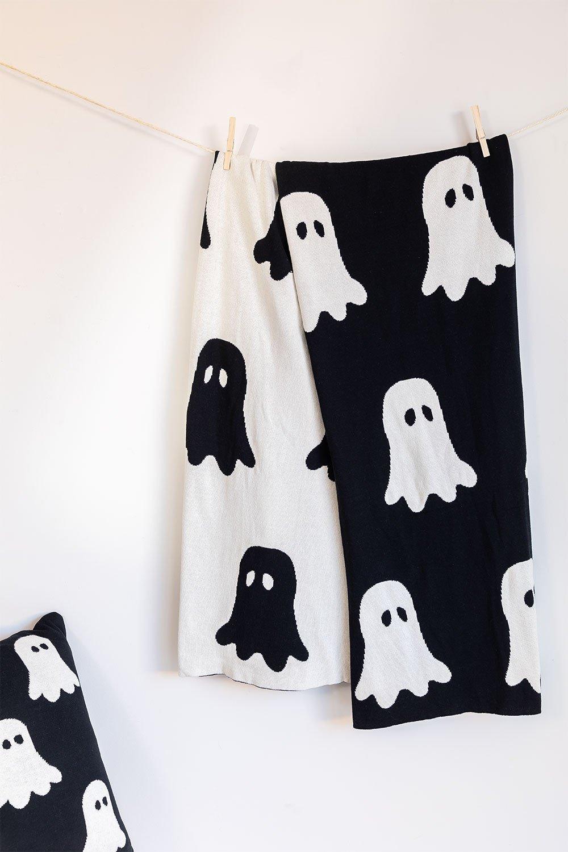 Fantom Cotton Plaid Blanket, gallery image 1