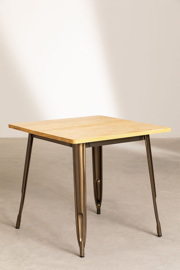 Square Wood Dining Table (80x80) LIX Brushed, gallery image 1