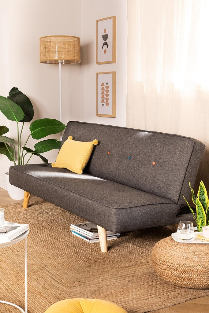 3 Seater Linen & Fabric Sofa Bed  Orbun Colors, gallery image 1