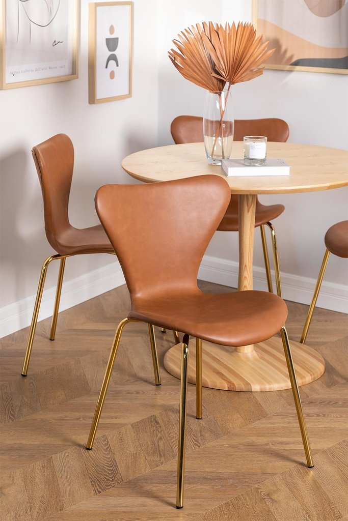 Leatherette Dining Chair Uit, gallery image 1