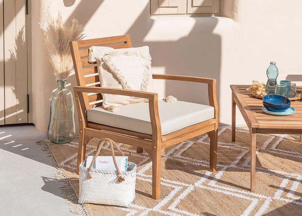 Garden Armchair in Teak Wood Adira , gallery image 1