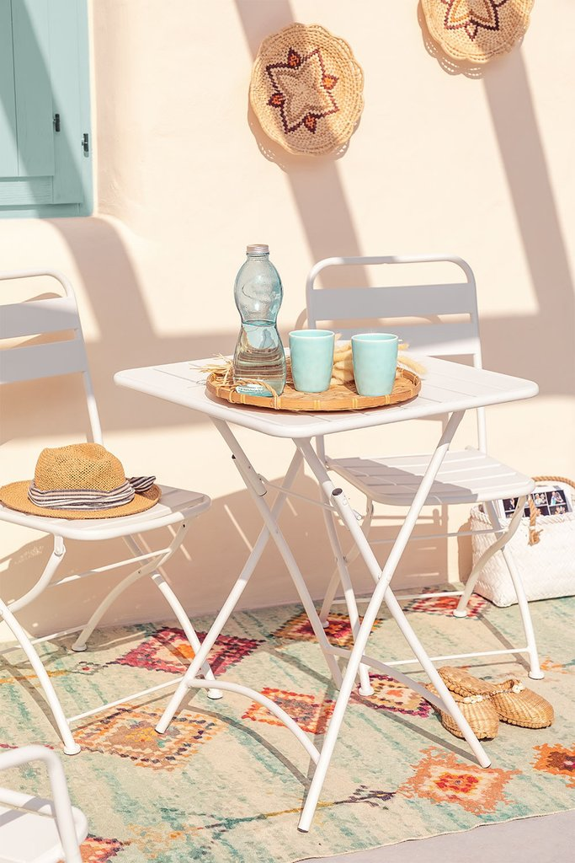 Foldable Steel Garden Table (60x60 cm) Janti, gallery image 1