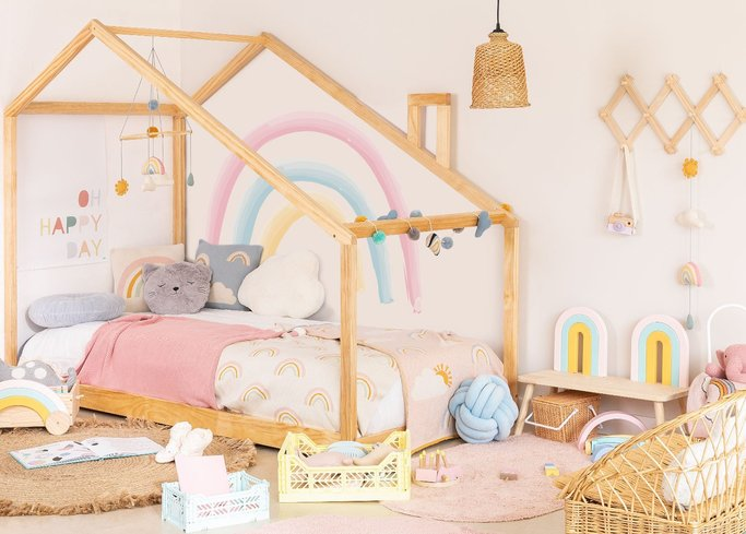 Wooden Bed for Mattress 90 cm Abbin Kids, gallery image 1