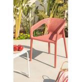 Sedia per esterno con braccioli Frida , immagine in miniatura 1