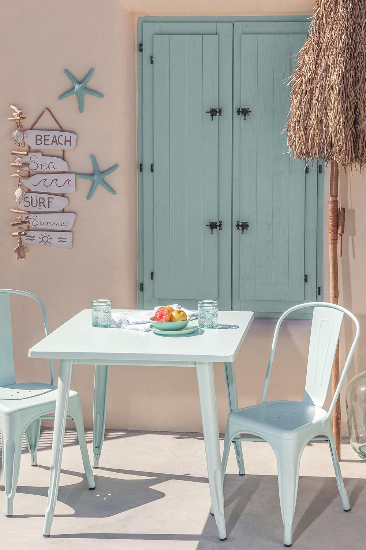 Set tavolo Lix Mate (80x80 cm) e 2 sedie da giardino Lix Mate, immagine della galleria 1
