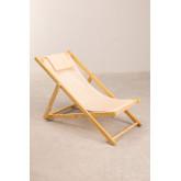 Set di sdraio e sgabello pieghevole in legno Dalma Colors, immagine in miniatura 3