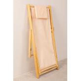 Set di sdraio e sgabello pieghevole in legno Dalma Colors, immagine in miniatura 4