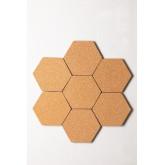 Confezione da 7 pannelli in sughero da parete Geom , immagine in miniatura 3