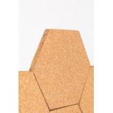 Confezione da 7 pannelli in sughero da parete Geom , immagine in miniatura 5