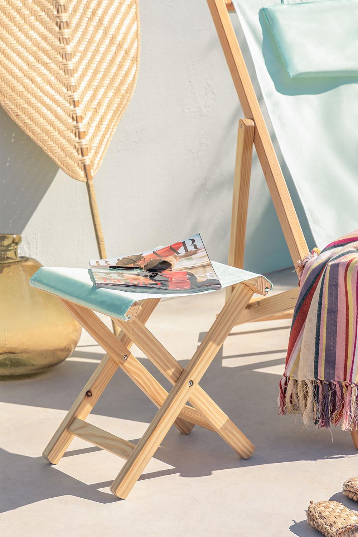 Sgabello in legno pieghevole Dalma Colors, immagine della galleria 1