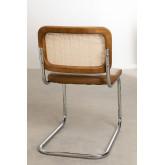Sedia da pranzo vintage in similpelle Tento, immagine in miniatura 5