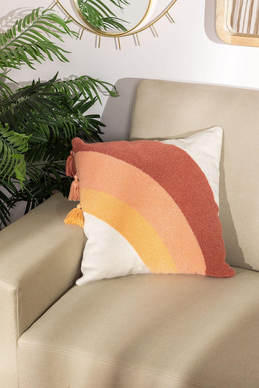 Cuscino quadrato in cotone (45x45 cm) Nory , immagine della galleria 1