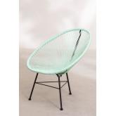 Set 2 sedie e 1 tavolo in polietilene e acciaio New Acapulco, immagine in miniatura 2