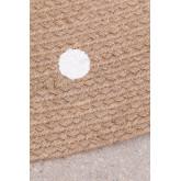Tappeto rotondo in iuta naturale (Ø150 cm) Naroh, immagine in miniatura 5