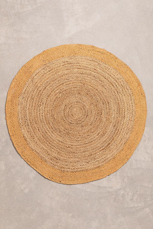 Tappeto rotondo in iuta naturale Dagna Colors, immagine della galleria 1