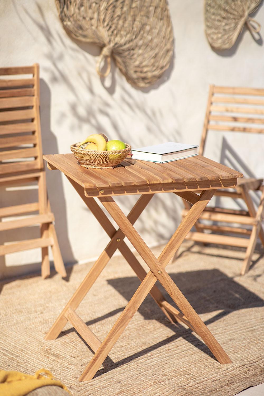 Tavolo da Giardino (60x60 cm) in Legno di Teak Nicola, immagine della galleria 1