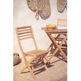 Sedia da giardino pieghevole in legno di teak Nicola, immagine in miniatura 1