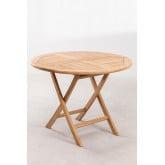 Tavolo da giardino rotondo in legno di teak (Ø100 cm) Pira, immagine in miniatura 2
