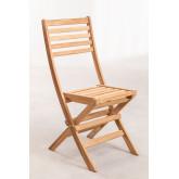 Sedia da giardino pieghevole in legno di teak Nicola, immagine in miniatura 2
