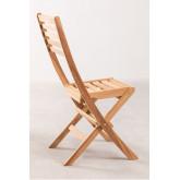 Sedia da giardino pieghevole in legno di teak Nicola, immagine in miniatura 3