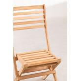 Sedia da giardino pieghevole in legno di teak Nicola, immagine in miniatura 4