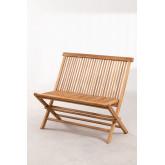 Panchina da giardino in legno di teak Pira, immagine in miniatura 2