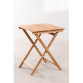 Tavolo da Giardino (60x60 cm) in Legno di Teak Nicola, immagine in miniatura 2