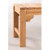 Panchina da giardino in legno di teak Donal, immagine in miniatura 4