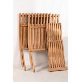 Set di tavolini in legno di teak Judit e 2 poltrone pieghevoli in legno di teak Pira, immagine in miniatura 3