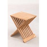 Set di tavolini in legno di teak Judit e 2 poltrone pieghevoli in legno di teak Pira, immagine in miniatura 5