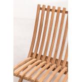 Set di tavolini in legno di teak Judit e 2 poltrone pieghevoli in legno di teak Pira, immagine in miniatura 6