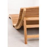 Lettino pieghevole Kedas in legno di teak, immagine in miniatura 4