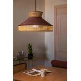 Lampada da Soffitto in Velluto e Rattan Xanti, immagine in miniatura 2